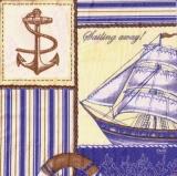 Anker & Schiff, Sailing away gelb - Anchor & Ship - Ancre & Bateau