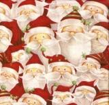 Collage von lustigen Weihnachtsmännern - Collage of funny Santa Claus - Collage de drôle Père Noël