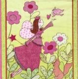 Blumenfee, Vogel mit Herz, Eichhörnchen - Flower fairy, bird with heart, squirrels - Fée de fleur, oiseau avec le coeur, les écureuils