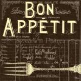 Nostalgische Gabel, Geschriebenes, Guten Appetit - Nostalgic fork, written - Fourche nostalgique, écrit, Bon Appetit, La Meilleure Table de Paris