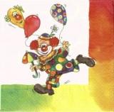 Lustiger Clown mit Ballons & Regenbogen-Rahmen - Funny clown with balloons & Rainbow framework - Drôle de clown avec des ballons et arc-cadre
