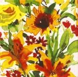 Bunt gemalte Blumen, Lindsey - Colorful Painted Flowers - Fleurs peintes colorées