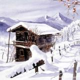 Berghütte im Schnee - Mountain Chalet in winter - Chalet dans la neige