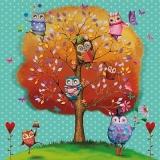 Lustige Eulen im Baum - Funny Owls in Tree  - Hiboux drôles dans larbre