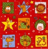 Weihnachtskalender mit lustigen Tieren - Christmas calendar with funny animals - Calendrier de Noël avec de drôles danimaux