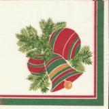 Weihnachtsgesteck mit Kugeln & Glocke - Christmas wreath with balls and bell - Guirlande de Noël avec des boules et la cloche
