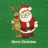 Lustiger Weihnachtsmann & Rentier - Funny Santa Claus & Reindeer - Père noël drôle & renne -