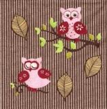 Pinke Eulen im Herbst - Pink Owls in autumn - Hiboux roses en automne