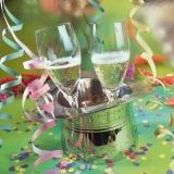 Sekt im Hut, Silvester, Neujahr - Champagne in the hat, New Years Eve - Champagne dans le chapeau, la Saint-Sylvestre, Nouvel An