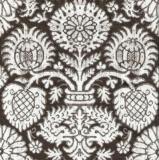 Altes Blumenmuster schwarz-weiß - Old floral pattern black-white - Vieux motif floral noir-blanc