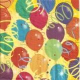 Bunte Luftballons & Luftschlangen - Colorful balloons & streamers - Des ballons & des banderoles colorées