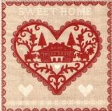 Herz im Landhausstil - Heart in a country style, Sweet Home - Coeur dans un style champêtre