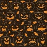 Halloween-Kürbisse - Halloween pumpkins, Jack-O-Latern - Citrouilles dHalloween