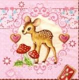 Bambi, Fliegenpilze, Herzen, Gebäck - Bambi, toadstools, heart, pastries - Bambi, champignons vénéneux, coeur, pâtisseries