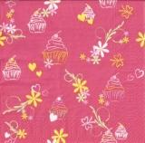 Blumen, Schmetterlinge, Herzen & Törtchen pink - Flowers, butterflies, hearts & Tarts - Fleurs, papillons, des coeurs & tartelettes