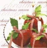Gesteck aus Äpfeln & Kerzen - Arrangement of apples and candles - Disposition des pommes & bougies