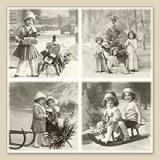 Nostalgische Weihnachtsszenen mit Kindern - Nostalgic Christmas scenes with children - Nostalgique des scènes de Noël avec les enfants