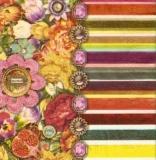 Bunte Blumen-Collage mit Edelsteinen - Colorful Flower Collage with gems - Colorful Collage de fleurs avec des pierres précieuses