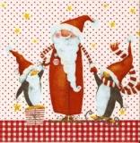 Lustiger Weihnachtsmann & Pinguine - Funny Santa Claus & Penguins - Père noël drôle & Pingouins