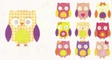 10 bunte Eulen - 10 colorful owls - 10 hiboux colorés