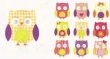 10 bunte Eulen - 10 colorful owls - 10 hiboux colorés