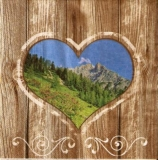 Bergige Landschaft im Herz - Mountainous landscape in the heart - Paysage montagneux dans le coeur
