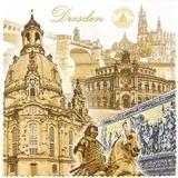 Dresden, Semperoper, Frauenkirche, Goldener Reiter