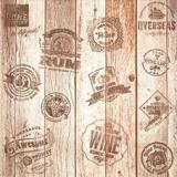 Holzfass mit verschiedenen Labels - Wooden barrel with different labels - Tonneau en bois avec différentes étiquettes