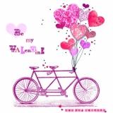 Fahrrad, Tandem & viele Herzen - Bicycle, Tandem & many hearts, Be my valentine - Vélos, tandem & beaucoup de cœurs