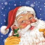 Kleiner Junge mit Trompete beim Weihnachtsmann - Little boy with trumpet at Santa Claus - Petit garçon avec trompette chez Père Noël