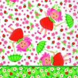 Elina Erdbeere mit Schirm & vielen Blumen - Elina strawberry with umbrella & lots of flowers - Elina fraises avec un parapluie et beaucoup de fleurs