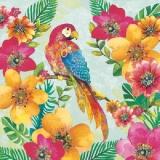 Tropische Blumen & Papagei - Tropial flowers & parrot - Tropical Fleurs & perroquet