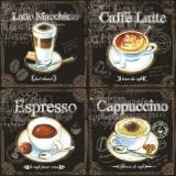 Verschiedene Kaffeearten - Types of Coffee - Types de café