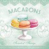 Bunte Makronen türkis - Macarons , sweet things
