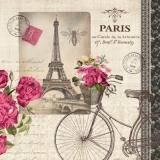 Fahrrad in Paris, Eiffelturm, Rosen, Biene - Bicycle in Paris, Eiffel Tower, roses, bee - Vélos à Paris, la Tour Eiffel, roses, abeille