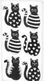 6 schwarze Katzen - 6 Black Cats - 6 chats noirs