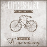 Das Leben ist wie Fahrrad fahren, um in der Balance zu bleiben muß man sich bewegen - Life is like riding a bicycle - To keep you balance you must keep moving - La vie est comme une bicyclette - Pour