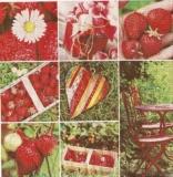 Collage von Erdbeeren - Collage of strawberries - Collage de fraises