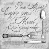 Besteck, Bon Appetit, Enjoy your meal......grau  - Cutlery - Coutellerie