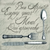 Besteck, Bon Appetit, Enjoy your meal......braun  - Cutlery - Coutellerie