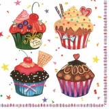 Leckere kleine Küchlein, Törtchen - Tasty cupcakes - petits gâteaux savoureux