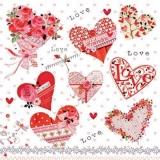 8 wunderschöne Herzen - 8 beautiful hearts - 8 beau coeur
