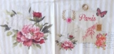 Brief aus Paris, Rosen, Blumen, Eiffelturm, Schmetterling - Letter from Paris, roses, flowers, Eiffel Tower, Butterfly - Lettre de Paris, roses, fleurs, Tour Eiffel, Papillon