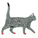 Katze hat Worte - Cat & words - Chat et mots