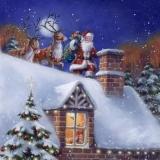 Weihnachtsmann auf dem Dach - Santa on the roof - Père Noël sur le toit