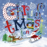 Christmas fun - Vogel, Rentier & Weihnachtsmann auf Ski - Oiseau, reindeer Rudolph and skiing Santa - Bird, Rudolph le renne et le ski de Santa