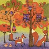 Eulen, Füchse, Eichhörnchen & Vögel im Wald - Owls, foxes, squirrels and birds in the woods - Hiboux, renards, écureuils & oiseaux dans les bois