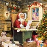 Weihnachtsmann, Wunschzettel, Kinder, Hund, Katze - Santa Claus, wish list, children, dog, cat - Père Noël, souhait, enfant, chien, chat