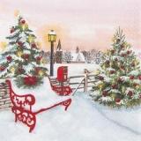 Parkbank im Winter - Park bench in winter - Banc de parc en hiver -