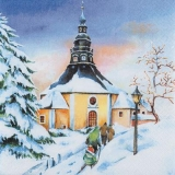 Verschneite Kirche - Snowy Church - Église de Milou